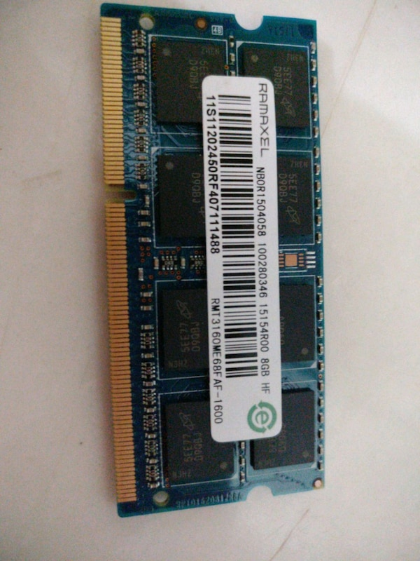 8gb ddr3l notebook  ram