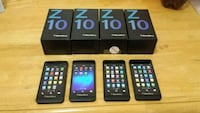 $110 Each.  4-16gb-BlackBerry z10-Unlock  Toronto, M9B 1B9