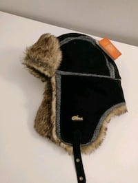 Leather Faux fur lining bomber hat - ScreamerWear  Annandale, 22003