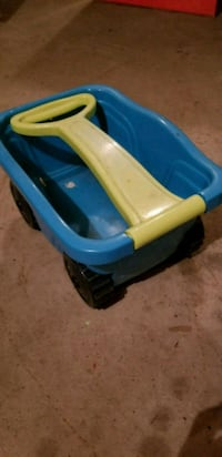 Small toy wagon.