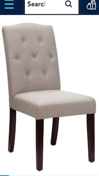 Better Homes and Gardens Parsons Tufted Dining Chair, Set of 2, Taupe Sarasota, 34233