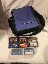 Nintendo Gameboy Advance SP case w/ Lot of GBA games Mobile, 36619