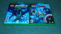 Lego Batman 3 and Avengers XBOX One games Lincoln, 19960