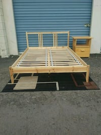 brown wooden bed frame with mattress Mesa, 85202