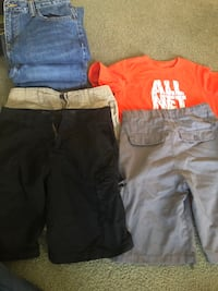 two black and one red shorts Gray, 70359