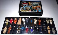 Vintage Star Wars figures and case Barrie