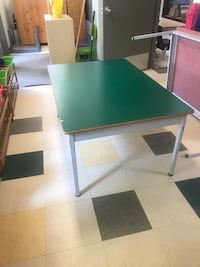 rectangular green wooden table with chairs West Vancouver, V7S 1H8