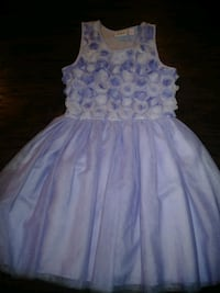 white and purple floral sleeveless dress Robertsdale, 36567