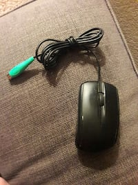 black corded computer mouse