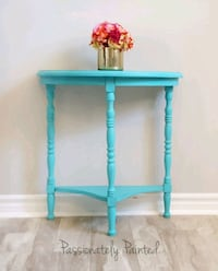 Demi lune accent side hall table  Barrie