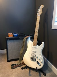 Fender Stratocaster, Amp, Pedals, Cables and Strap Calgary, T3M 1R1