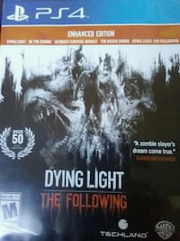 Dying Light The Following PS4 game case Calumet City, 60409
