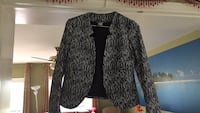 Black and white button-up blazer Vaughan, L4K 2L3