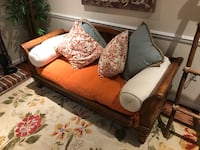 brown and black fabric sofa Gaithersburg, 20877