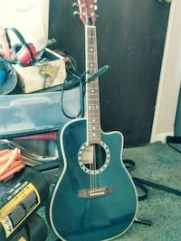 black and brown acoustic guitar Westminster, 80030