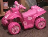 pink and white ATV ride-on