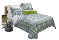 New Plaid Bedding 3 Piece Bedspread Coverlet Quilt Set Markham