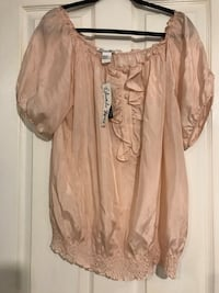 Brand new light pink silk blouse size XL