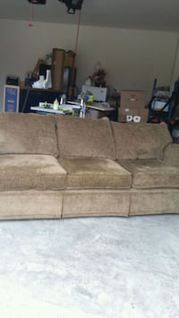 brown suede 3-seat sofa Fort Worth, 76179