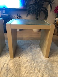 Wood side/end tables - Acrylic surface