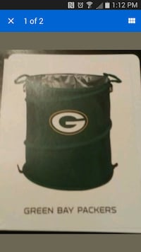 Green bay packers hamper, trash can, and laundry hamper