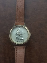 round silver chronograph watch with brown leather strap Canyon Lake, 92587