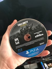 Call of duty advanced warfare ps4 game disc Manchester, 03102