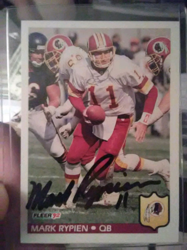 Mark rypien autograph card
