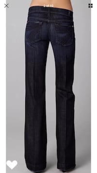 7 for all Mankind dojo flare jeans size 27 New Westminster, V3M 7A8