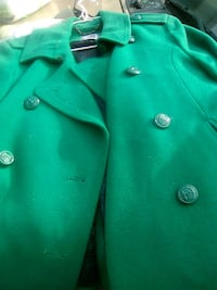 green leather button-up jacket 2344 mi