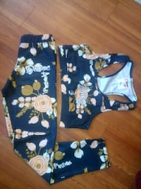 blue and white floral print pants Warren, 48089