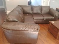 brown leather 3-seat sofa Athens, 30605