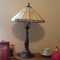 Tiffany style lamp.  Beige and dark brown in color Lexington, 40511