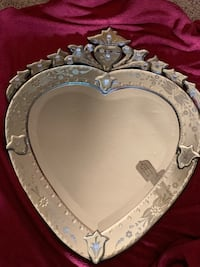 PERFECT VALENTINE'S DAY PRESENT!  ORNATE, ETCHED, and BEVELED HEART MIRROR!! Denham Springs, 70726