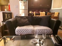 black leather tufted sectional sofa Calgary, T3C 0N7