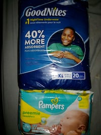 New born pampers $8 / good nights $10  Edmonton, T5C 0E8