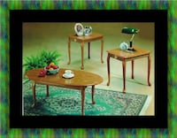 3pc coffee table Oak Cheverly