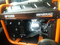 orange and black Generac GP3300