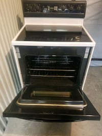 Electric stove with glass top