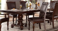 Dining table six chairs with leaf  Elgin