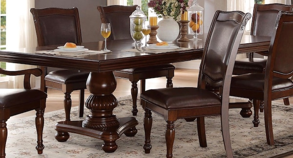 Dining Table Six Chairs With Leaf