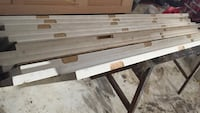 white and brown wooden TV stand