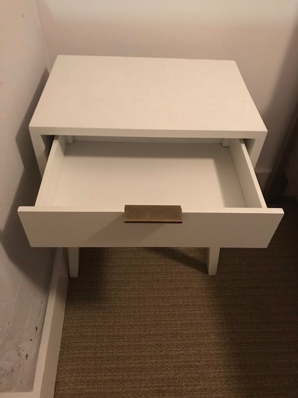 White and gold nightstand  4870f8c4-cd1e-441d-b45b-09664a60342d