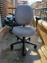 Office chair grey fabric small scratch on fabric as photo  Montréal, H4P 1P5