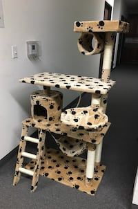 New in box 55 inches tall cat tree scratching play post pet furniture beige brown black or navy blue Whittier, 90605