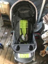 baby's black and green stroller Manassas
