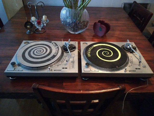 two grey turntables for sale  Mississauga