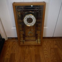 WOOD AND GLASS WALL CLOCK Pinellas Park