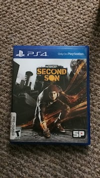 PS4 inFamous Second Son game case Lichfield, WS14 9XS