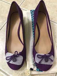 Brand new Tory Burch purple wedge Gaithersburg, 20879